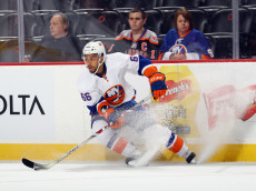 NEWARK, NJ - OCTOBER 05: Joshua Ho-Sang #66 of the New York Islanders skates against the New Jersey Devils at the Prudential Center on October 5, 2016 in Newark, New Jersey.  (Photo by Bruce Bennett/Getty Images)
