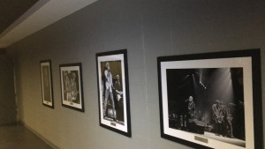 Pictures of historic moments in the Nassau Coliseum's history are hung along the walls throughout the newly renovated arena