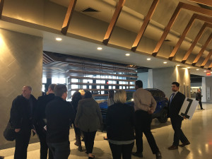 The concourse inside the newly renovated Nassau Coliseum. Vendors with ties to Long Island will have concession stands inside the renovated arena.
