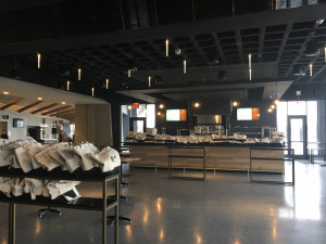 The Blue Moon Beer Garden, located on the concourse of the newly renovated Nassau Coliseum.