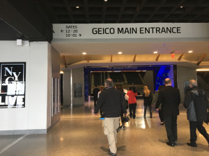 The new entrance located inside the newly renovated Nassau Coliseum.