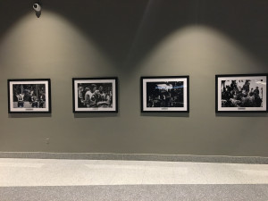 Four photos hang in the lower level concourse that commemorate the Islanders four Stanley Cup Championships. It is the only reference to the Islanders' 43 years at the Nassau Coliseum.