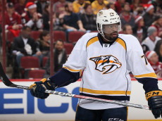 GLENDALE, AZ - DECEMBER 10:  P.K. Subban #76 of the Nashville Predators during the NHL game against the Arizona Coyotes at Gila River Arena on December 10, 2016 in Glendale, Arizona. The Coyotes defeated the Predators 4-1.  (Photo by Christian Petersen/Getty Images)