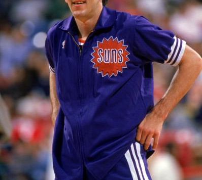 PHOENIX - 1989:  Jeff Hornacek #14 of the Phoenix Suns looks on during a 1989 season NBA game at Veteran's Memorial Coliseum in Phoenix, Arizona.  (Photo by Otto Greule Jr./Getty Images)
