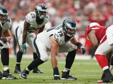 GLENDALE, AZ - OCTOBER 26:  Guard Todd Herremans #79 of the Philadelphia Eagles in action during the NFL game against the Arizona Cardinals at the University of Phoenix Stadium on October 26, 2014 in Glendale, Arizona.  (Photo by Christian Petersen/Getty Images)