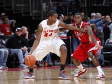 COLUMBUS, OH - NOVEMBER 26: William Buford #44 of the Ohio State Buckeyes tries to get to the basket against Quinten Rollins #2 of the Miami RedHawks at Value City Arena on November 26, 2010 in Columbus, Ohio. Ohio State won 66-45. (Photo by Joe Robbins/Getty Images)
