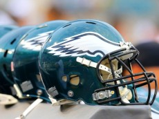 JACKSONVILLE, FL - AUGUST 24:  A row of Philadelphia Eagles helmets rest on the sidelines before a game against the Jacksonville Jaguars at EverBank Field on August 24, 2013 in Jacksonville, Florida.  (Photo by Brian Cleary/Getty Images)