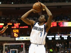 DALLAS, TX - FEBRUARY 24:  Al-Farouq Aminu #7 of the Dallas Mavericks at American Airlines Center on February 24, 2015 in Dallas, Texas.  NOTE TO USER: User expressly acknowledges and agrees that, by downloading and or using this photograph, User is consenting to the terms and conditions of the Getty Images License Agreement.  (Photo by Ronald Martinez/Getty Images)