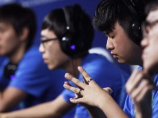 INCHEON, SOUTH KOREA - JULY 01:  Team Chinese Taipei prepare for the s-Sports Specialforce final against South Korea at the Samsan World Gymnasium during day three of the 4th Asian Indoor & Martial Arts Games on July 1, 2013 in Incheon, South Korea.  (Photo by Chung Sung-Jun/Getty Images)