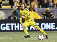 COLUMBUS, OH - MARCH 14:  Ethan Finlay #13 of the Columbus Crew SC in action against Toronto FC on March 14, 2015 at MAPFRE Stadium in Columbus, Ohio.  (Photo by Jamie Sabau/Getty Images)