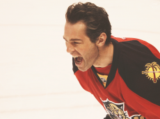 Looks like Jagr is excited. One more year! One more year!