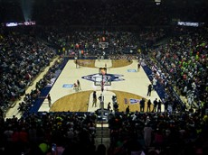 Gampel Pavilion during the 2015 First Night festivities for the UConn men's and women's basketball teams at Gampel Pavilion in Storrs, CT.