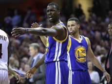 CLEVELAND, OH - JUNE 08:  Harrison Barnes #40 of the Golden State Warriors reacts in Game 3 of the 2016 NBA Finals against the Cleveland Cavaliers at Quicken Loans Arena on June 8, 2016 in Cleveland, Ohio. NOTE TO USER: User expressly acknowledges and agrees that, by downloading and or using this photograph, User is consenting to the terms and conditions of the Getty Images License Agreement.  (Photo by Ronald Martinez/Getty Images)
