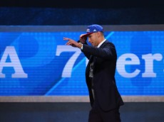 NEW YORK, NY - JUNE 23:  Ben Simmons walks on stage after being drafted first overall by the Philadelphia 76ers in the first round of the 2016 NBA Draft at the Barclays Center on June 23, 2016 in the Brooklyn borough of New York City. NOTE TO USER: User expressly acknowledges and agrees that, by downloading and or using this photograph, User is consenting to the terms and conditions of the Getty Images License Agreement.  (Photo by Mike Stobe/Getty Images)