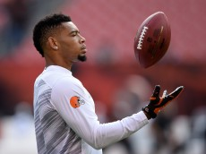 CLEVELAND, OH - SEPTEMBER 21:  Joe Haden #23 of the Cleveland Browns warms up prior to the game against the Baltimore Ravens at FirstEnergy Stadium on September 21, 2014 in Cleveland, Ohio.  (Photo by Jason Miller/Getty Images)