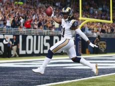 ST. LOUIS, MO - SEPTEMBER 21: Janoris Jenkins #21 of the St. Louis Rams returns an interception for a touchdown in the second against the Dallas Cowboys at the Edward Jones Dome on September 21, 2014 in St. Louis, Missouri.  (Photo by Dilip Vishwanat/Getty Images)