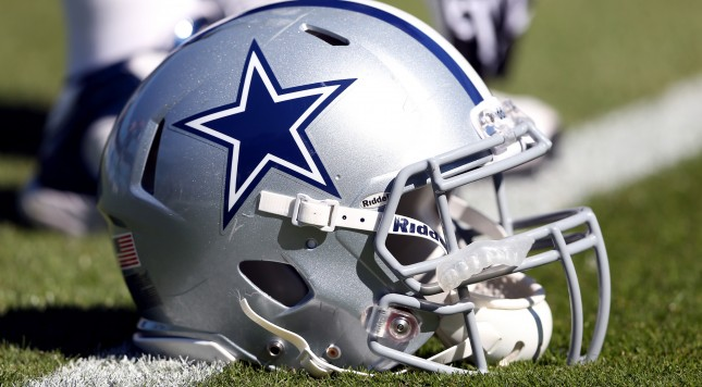 CHARLOTTE, NC - OCTOBER 21:  A helmet of the Dallas Cowboys during their game at Bank of America Stadium on October 21, 2012 in Charlotte, North Carolina.  (Photo by Streeter Lecka/Getty Images)