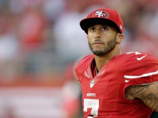 SANTA CLARA, CA - SEPTEMBER 14:  Quarterback Colin Kaepernick #7 of the San Francisco 49ers looks on during the second quarter of their game against the Chicago Bears at Levi's Stadium on September 14, 2014 in Santa Clara, California.  (Photo by Ezra Shaw/Getty Images)