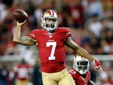 SANTA CLARA, CA - OCTOBER 22:  Colin Kaepernick #7 of the San Francisco 49ers in action against the Seattle Seahawks at Levi's Stadium on October 22, 2015 in Santa Clara, California.  (Photo by Ezra Shaw/Getty Images)