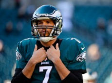 PHILADELPHIA, PA - NOVEMBER 15:  Quarterback Sam Bradford #7 of the Philadelphia Eagles looks on while warming-up before the game against the Miami Dolphis at Lincoln Financial Field on November 15, 2015 in Philadelphia, Pennsylvania.  (Photo by Alex Goodlett/Getty Images)
