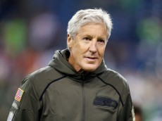 SEATTLE, WA - NOVEMBER 15:  Head coach Pete Carroll of the Seattle Seahawks looks on prior to the game between the Seattle Seahawks and the Arizona Cardinals at CenturyLink Field on November 15, 2015 in Seattle, Washington.  (Photo by Otto Greule Jr/Getty Images)