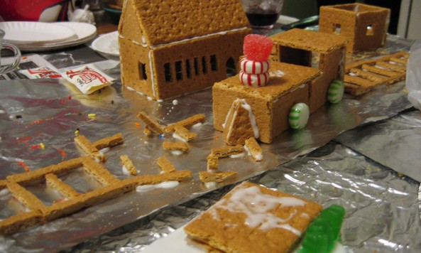 Gingerbread trainwreck