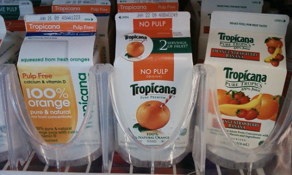 Tropicana labels