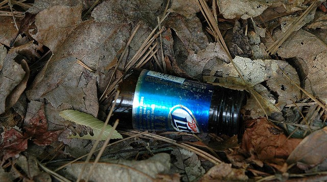 broken miller lite bottle