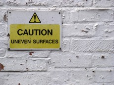 Uneven surfaces