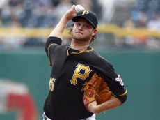PITTSBURGH, PA - SEPTEMBER 19:  Gerrit Cole #45 of the Pittsburgh Pirates pitches in the first inning against the San Diego Padres during the game on September 19, 2013 at PNC Park in Pittsburgh, Pennsylvania.  (Photo by Justin K. Aller/Getty Images)