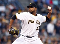 PITTSBURGH, PA - SEPTEMBER 17:  Francisco Liriano #47 of the Pittsburgh Pirates pitches in the first inning against the Boston Red Sox during inter-league play at PNC Park on September 17, 2014 in Pittsburgh, Pennsylvania.  (Photo by Justin K. Aller/Getty Images)