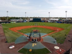 BRADENTON, FL - MARCH 17:  A general view of McKechnie Field just before the start of the Grapefruit League Spring Training Game between the Pittsburgh Pirates and the New York Yankees on March 17, 2013 in Bradenton, Florida.  (Photo by J. Meric/Getty Images)