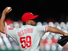 WASHINGTON, DC - SEPTEMBER 07:  Antonio Bastardo #59 of the Philadelphia Phillies pitches against the Washington Nationals in the eighth inning of a 3-2 Nationals win at Nationals Park on September 7, 2014 in Washington, DC.  (Photo by Jonathan Ernst/Getty Images)