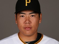 BRADENTON, FL - FEBRUARY 26:  Jung Ho Kang #27 of the Pittsburgh Pirates poses for a portrait on photo day on February 26, 2015 at Pirate City in Bradenton, Florida.  (Photo by Rob Carr/Getty Images)