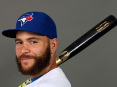 DUNEDIN, FL - FEBRUARY 28:  Russell Martin #55 of the Toronto Blue Jays poses on photo day on February 28, 2015 in Dunedin, Florida.  (Photo by Rob Carr/Getty Images)