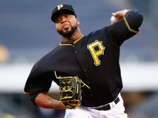 PITTSBURGH, PA - APRIL 21:  Francisco Liriano #47 of the Pittsburgh Pirates pitches in the first inning against the Chicago Cubs at PNC Park on April 21, 2015 in Pittsburgh, Pennsylvania.  (Photo by Jared Wickerham/Getty Images)