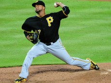 ATLANTA, GA - SEPTEMBER 22: Francisco Liriano #47 of the Pittsburgh Pirates throws a fifth inning pitch against the Atlanta Braves at Turner Field on September 22, 2014 in Atlanta, Georgia. (Photo by Scott Cunningham/Getty Images)