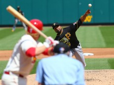 ST. LOUIS, MO - MAY 2: Starter Francisco Liriano #47 of the Pittsburgh Pirates pitches against the St. Louis Cardinals in the second inning at Busch Stadium on May 2, 2015 in St. Louis, Missouri.  (Photo by Dilip Vishwanat/Getty Images)