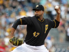 PITTSBURGH, PA - MAY 08:  Francisco Liriano #47 of the Pittsburgh Pirates pitches in the first inning during the game against the St. Louis Cardinals at PNC Park on May 8, 2015 in Pittsburgh, Pennsylvania.  (Photo by Justin K. Aller/Getty Images)