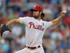 PHILADELPHIA, PA - MAY 08: Starting pitcher Cole Hamels #35 of the Philadelphia Phillies delivers a pitch in the second inning against the New York Mets at Citizens Bank Park on May 8, 2015 in Philadelphia, Pennsylvania.(Photo by Drew Hallowell/Getty Images)