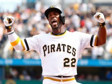 PITTSBURGH, PA - MAY 24: Andrew McCutchen #22 of the Pittsburgh Pirates celebrates following his two-run home run in the fifth inning against the New York Mets during the game at PNC Park on May 24, 2015 in Pittsburgh, Pennsylvania.  (Photo by Jared Wickerham/Getty Images)