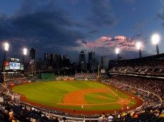 PITTSBURGH, PA - AUGUST 20:  A general view of PNC Park during the game between the Pittsburgh Pirates and the Atlanta Braves at PNC Park on August 20, 2014 in Pittsburgh, Pennsylvania.  (Photo by Justin K. Aller/Getty Images)