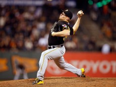 SAN FRANCISCO, CA - JUNE 02:  Mark Melancon #35 of the Pittsburgh Pirates pitches against the San Francisco Giants at AT&T Park on June 2, 2015 in San Francisco, California.  (Photo by Ezra Shaw/Getty Images)