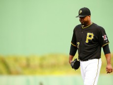 PITTSBURGH, PA - JUNE 09:  Francisco Liriano #47 of the Pittsurgh Pirates walks off of the field in the second inning against the Milwaukee Brewers during the game at PNC Park on June 9, 2015 in Pittsburgh, Pennsylvania.  (Photo by Jared Wickerham/Getty Images)