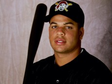 28 Feb 1999:  Infielder Aramis Ramirez #16 of the Pittsburgh Pirates poses for a studio portrait on Photo Day during Spring Training at the McKechnie Field in Bradenton, Florida. Mandatory Credit: Vincent Laforet  /Allsport