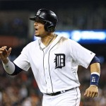 Victor Martinez is not happy with Gerrit Cole