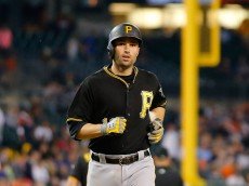 DETROIT, MI - JULY 1: Neil Walker #18 of the Pittsburgh Pirates rounds the bases after hitting a solo home run to left field in the eight inning of the interleague game against the Detroit Tigers on July 1, 2015 at Comerica Park in Detroit, Michigan. (Photo by Leon Halip/Getty Images)