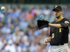 MILWAUKEE, WI - JULY 17: Charlie Morton #50 of the Pittsburgh Pirates pitches during the first inning against the Milwaukee Brewers at Miller Park on July 17, 2015 in Milwaukee, Wisconsin. (Photo by Mike McGinnis/Getty Images)