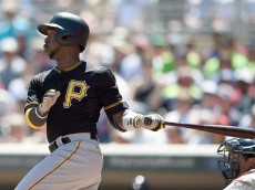 MINNEAPOLIS, MN - JULY 29: Andrew McCutchen #22 of the Pittsburgh Pirates hits an RBI single against the Minnesota Twins during the sixth inning of the game on July 29, 2015 at Target Field in Minneapolis, Minnesota. Four runs scored on the play. The Pirates defeated the Twins 10-4. (Photo by Hannah Foslien/Getty Images)