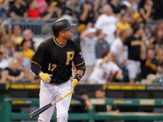 PITTSBURGH, PA - AUGUST 29:  Aramis Ramirez #17 of the Pittsburgh Pirates hits a three run home run in the first inning during the game against the Colorado Rockies at PNC Park on August 29, 2015 in Pittsburgh, Pennsylvania.  (Photo by Justin K. Aller/Getty Images)